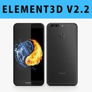 E3D-华为荣耀8 Pro黑色 3d model