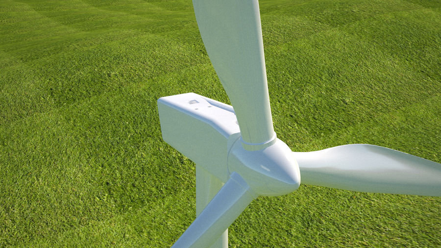 Wind Turbine royalty-free 3d model - Preview no. 4