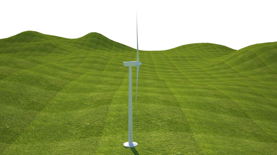 Wind Turbine royalty-free 3d model - Preview no. 7
