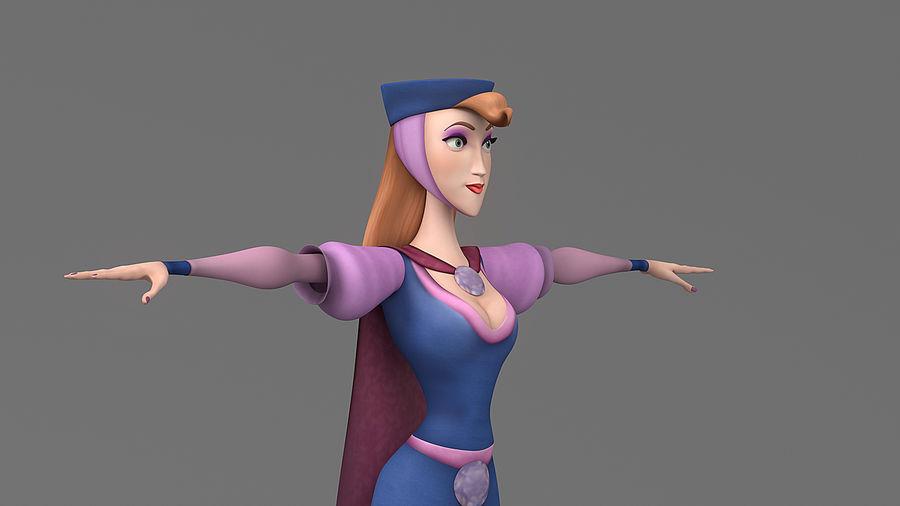femme de bande dessinée 3 royalty-free 3d model - Preview no. 10