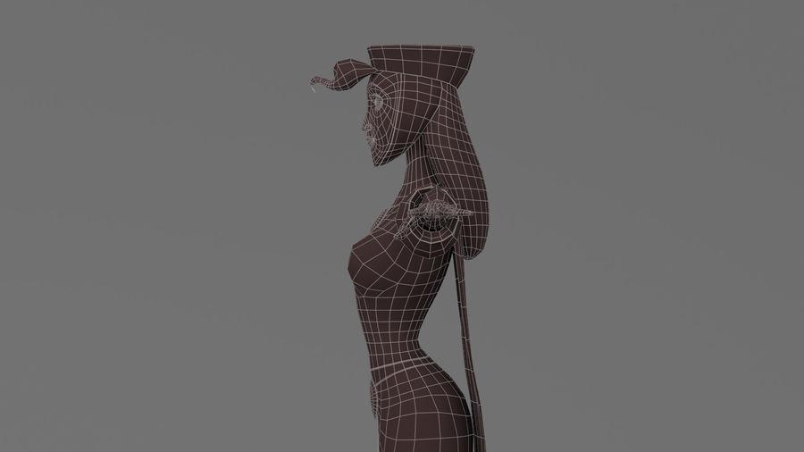 femme de bande dessinée 3 royalty-free 3d model - Preview no. 28