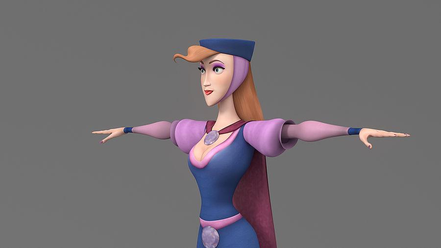 femme de bande dessinée 3 royalty-free 3d model - Preview no. 16