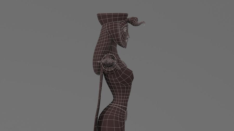 femme de bande dessinée 3 royalty-free 3d model - Preview no. 26