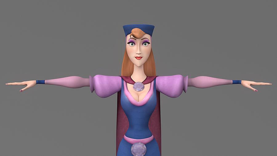 femme de bande dessinée 3 royalty-free 3d model - Preview no. 9