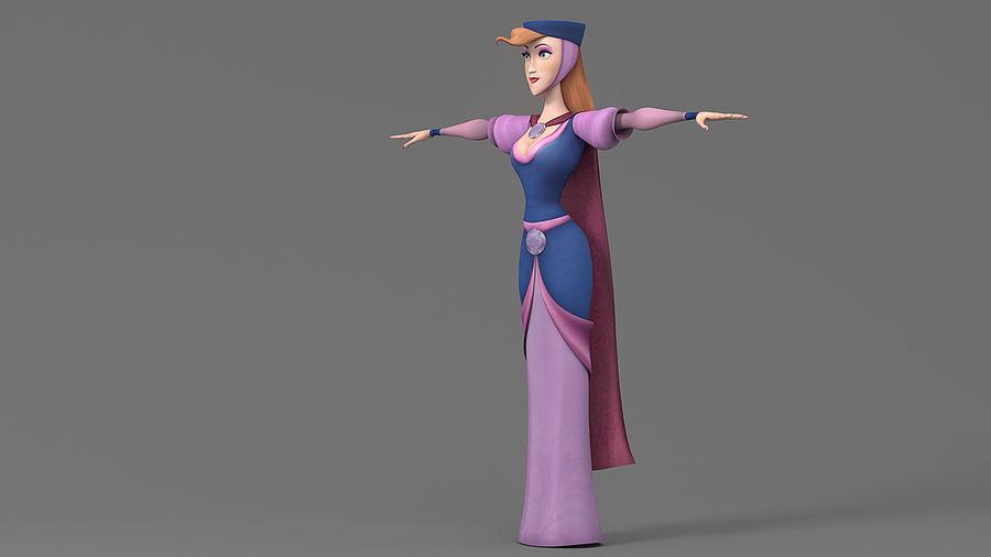 femme de bande dessinée 3 royalty-free 3d model - Preview no. 8