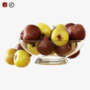 꽃병에 사과 3d model