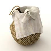 Basket of Rattan 3d model