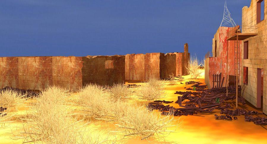 Сцена разрушенного города royalty-free 3d model - Preview no. 8