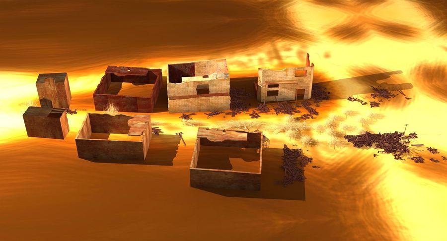 Сцена разрушенного города royalty-free 3d model - Preview no. 14