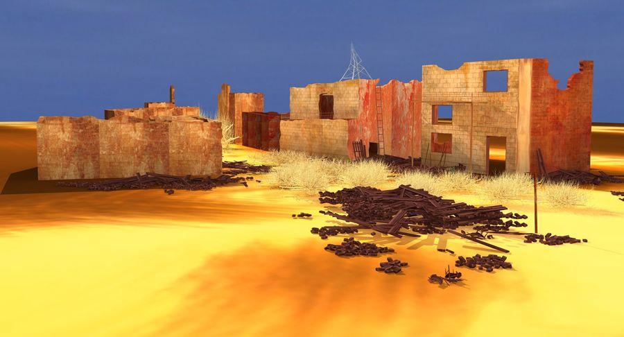 Сцена разрушенного города royalty-free 3d model - Preview no. 5