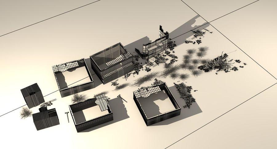 Сцена разрушенного города royalty-free 3d model - Preview no. 20