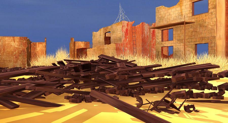 Сцена разрушенного города royalty-free 3d model - Preview no. 10