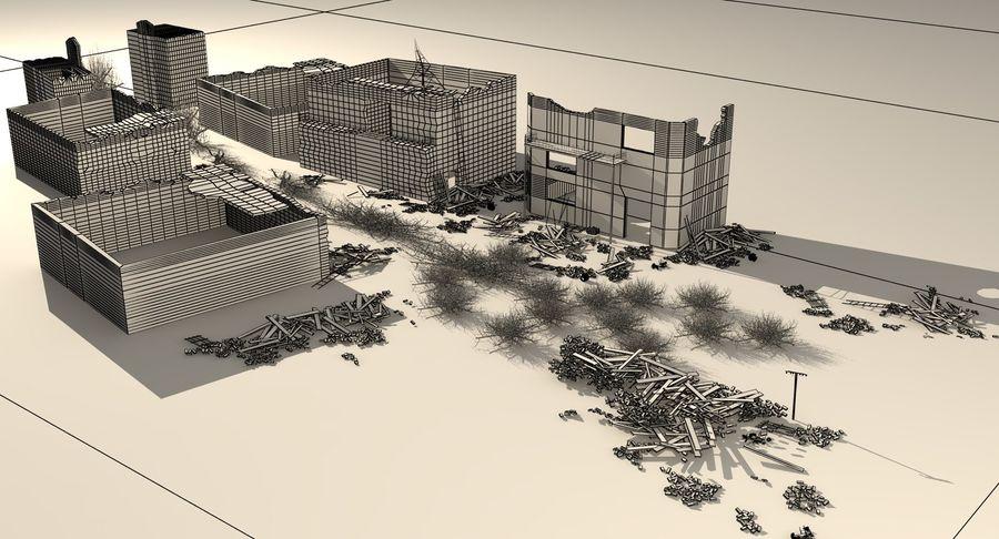 Сцена разрушенного города royalty-free 3d model - Preview no. 16