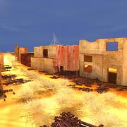 Сцена разрушенного города 3d model