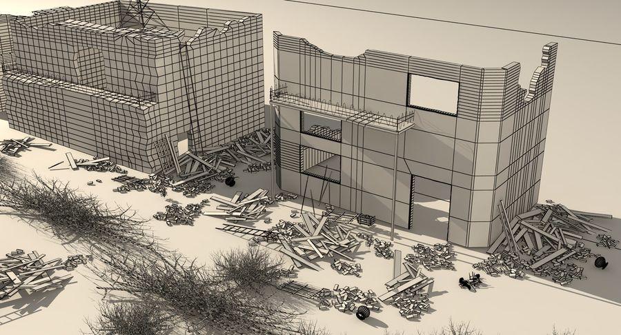 Сцена разрушенного города royalty-free 3d model - Preview no. 18
