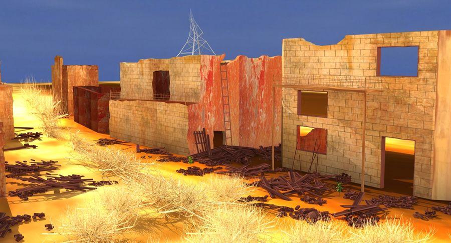Сцена разрушенного города royalty-free 3d model - Preview no. 2