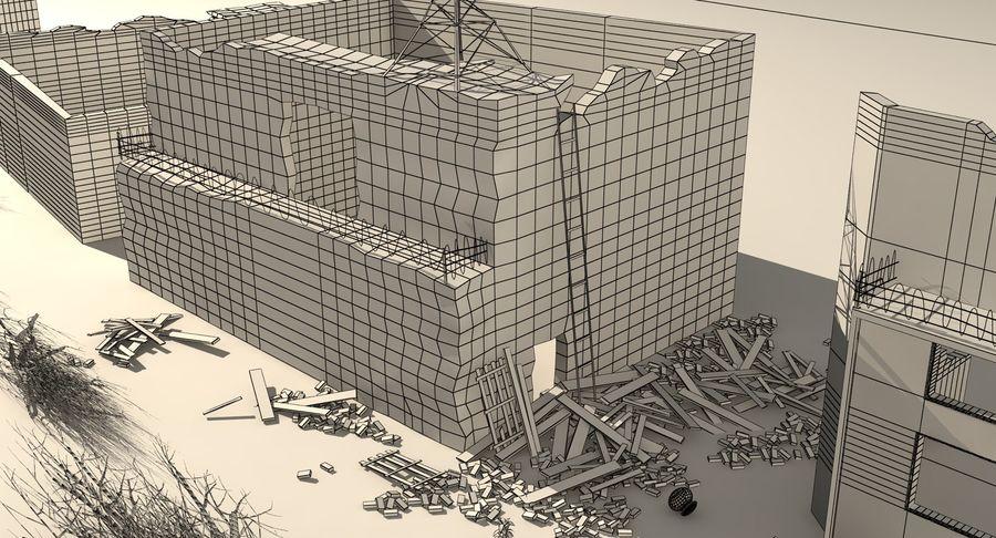 Сцена разрушенного города royalty-free 3d model - Preview no. 17