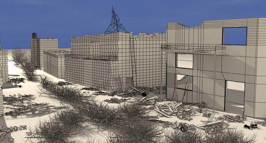 Сцена разрушенного города royalty-free 3d model - Preview no. 15