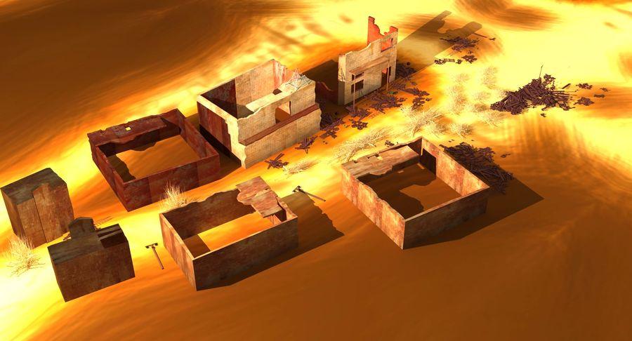 Сцена разрушенного города royalty-free 3d model - Preview no. 7