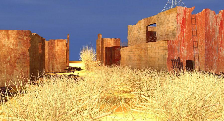 Сцена разрушенного города royalty-free 3d model - Preview no. 9