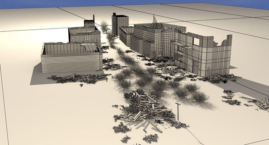 Сцена разрушенного города royalty-free 3d model - Preview no. 21