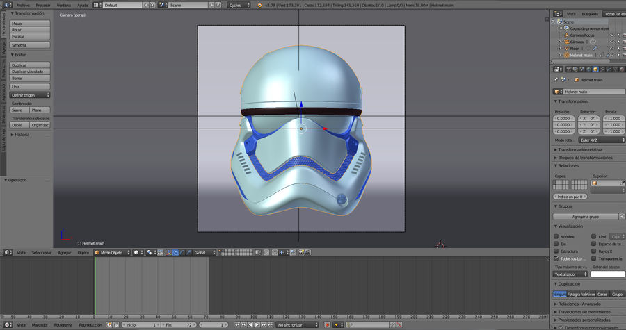 Casque Star Wars Stormtrooper royalty-free 3d model - Preview no. 12