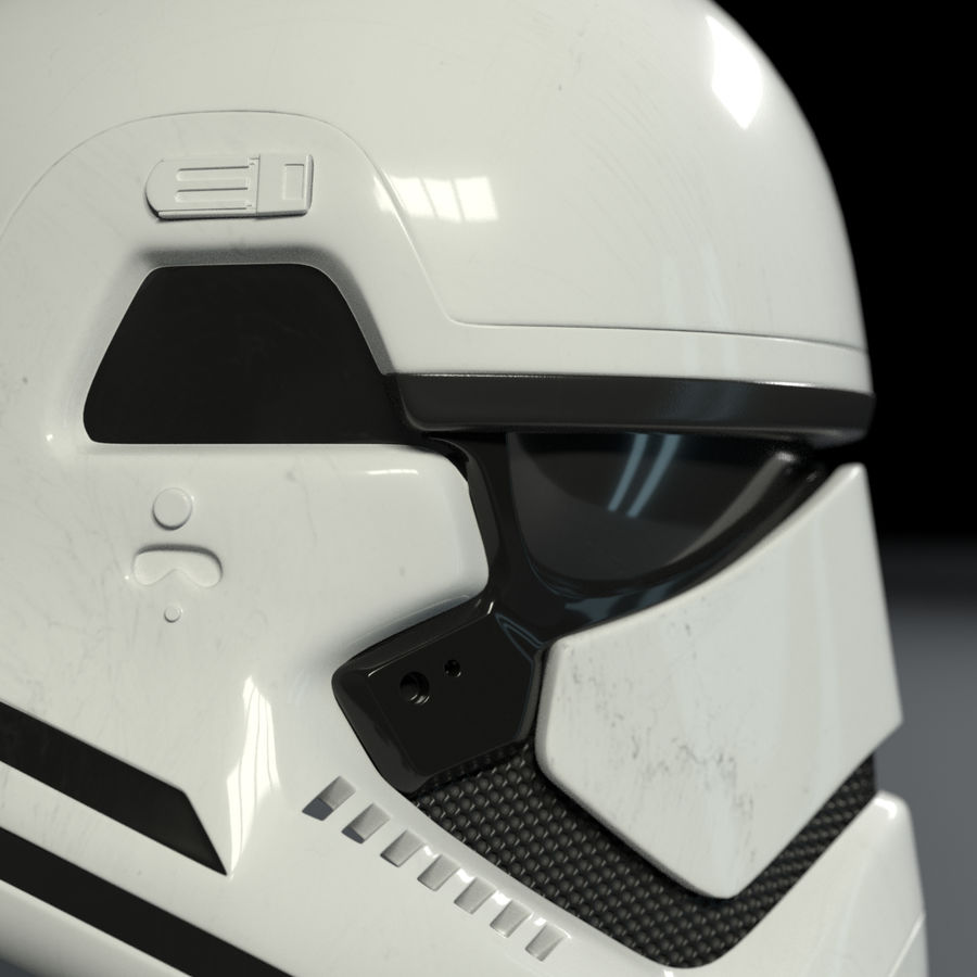 Casque Star Wars Stormtrooper royalty-free 3d model - Preview no. 2