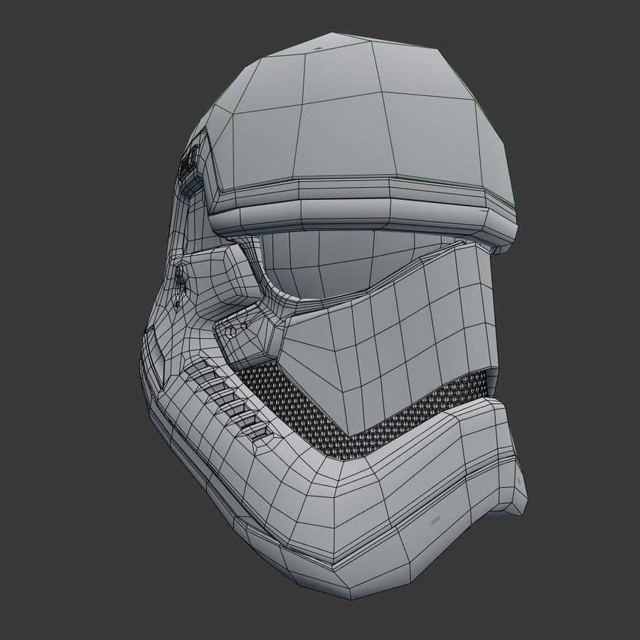 Casque Star Wars Stormtrooper royalty-free 3d model - Preview no. 8