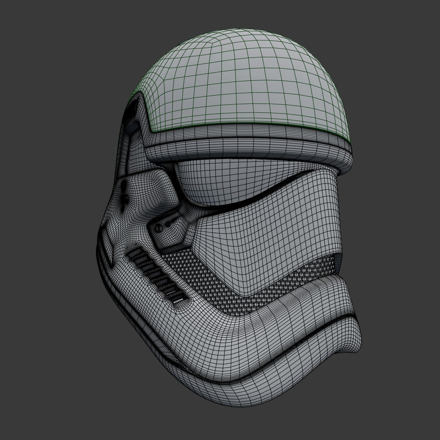 Casque Star Wars Stormtrooper royalty-free 3d model - Preview no. 9