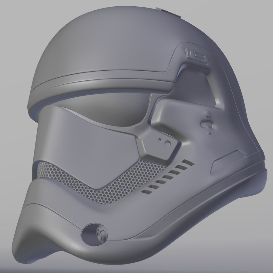Casque Star Wars Stormtrooper royalty-free 3d model - Preview no. 6