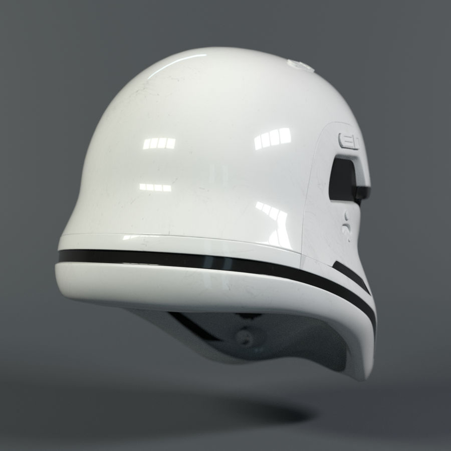 Casque Star Wars Stormtrooper royalty-free 3d model - Preview no. 5