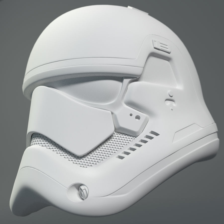 Casque Star Wars Stormtrooper royalty-free 3d model - Preview no. 7