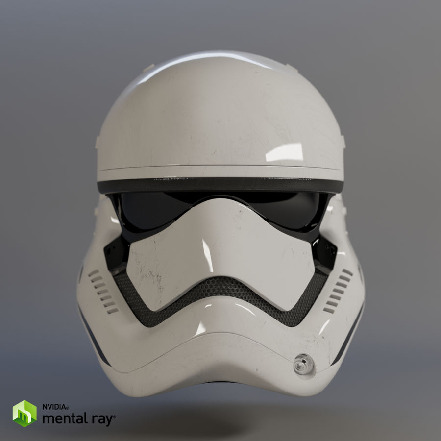 Casque Star Wars Stormtrooper royalty-free 3d model - Preview no. 4