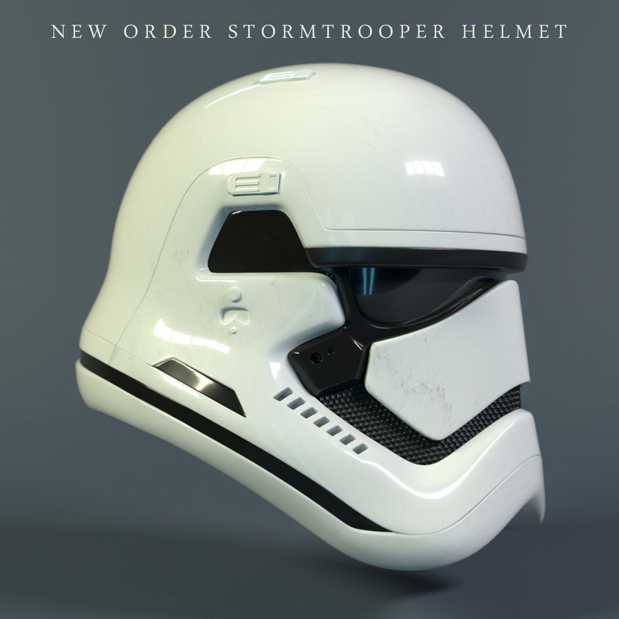 Casque Star Wars Stormtrooper royalty-free 3d model - Preview no. 1