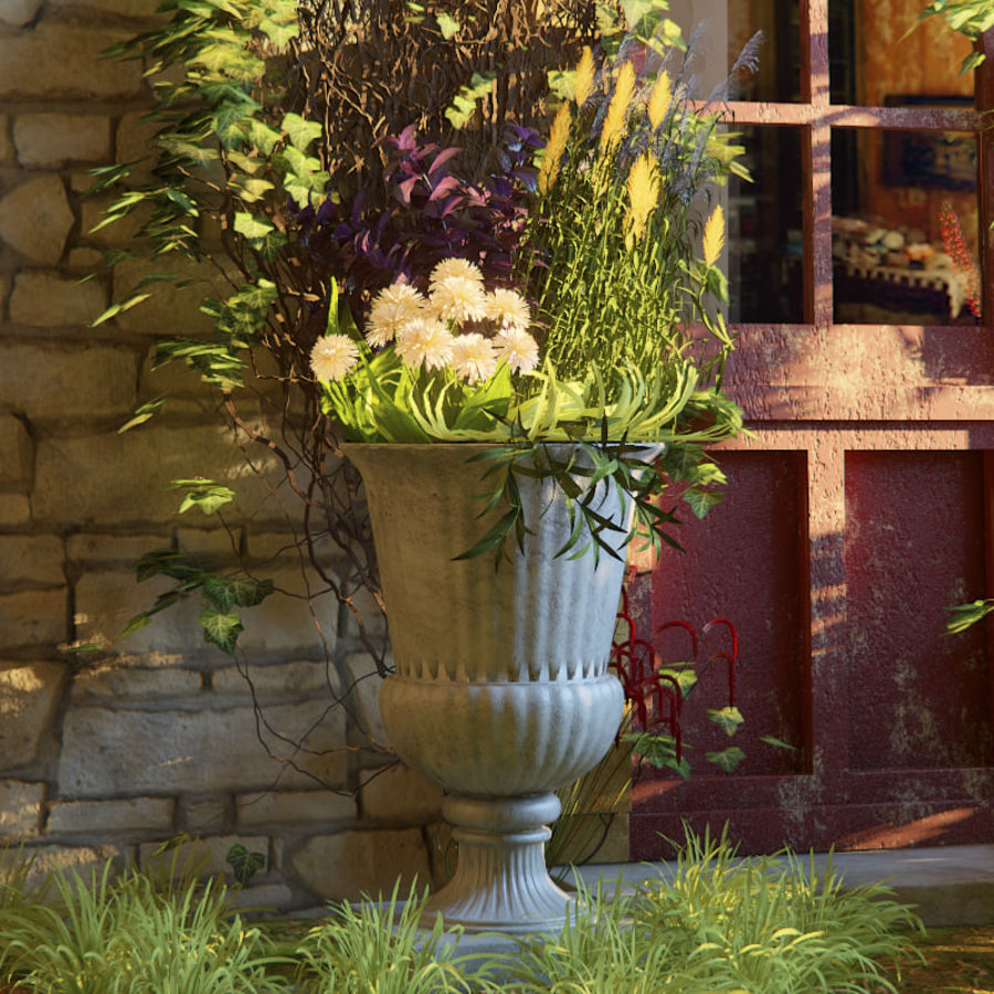 Exterior de flores royalty-free 3d model - Preview no. 3