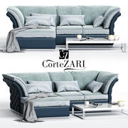 CorteZARI TIAGOコーナーソファ 3d model
