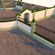 Modulaire hekken, poorten en muren 3d model
