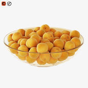 Apricots in a vase 3d model