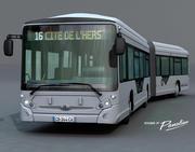 Autobus urbano articolato 3d model