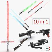 Collection de modèles 3D d'armes Star Wars 3d model