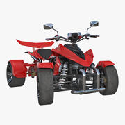 Modelo 3D Rigged de Quad Bike Spy Racing 350CC 2016 3d model