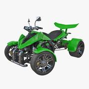 クワッドバイクスパイレーシング350CCバギーATVグリーンリギング3Dモデル 3d model