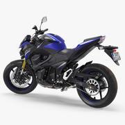Modelo 3D Rigged 2016 da motocicleta Kawasaki padrão 3d model
