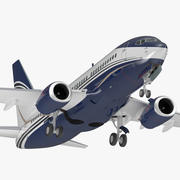 Boeing 737-700 Generic Rigged 3D 모델 3d model