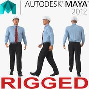 Mayaのために装備されたヘルメットの建設エンジニア 3d model