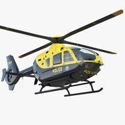 Policyjny Eurocopter EC-135 3d model