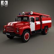 Feuerwehrauto ZIL 130 1970 3d model