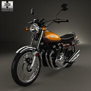 Kawasaki 900 Z1 Super Four 1973 год 3d model