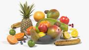 碗里的水果 3d model