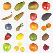 Conjunto de frutas 3d model